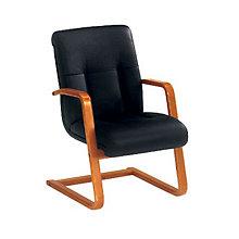 Belmont Black Leather Guest Chair, DMI-713-82