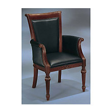 Leather Guest Chair with Sedona Cherry Frame, DMI-7302-821