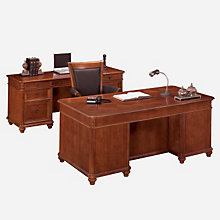 Antigua Executive Desk and Credenza, OFG-EX1175