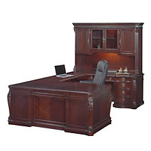 Balmoor Executive Right Bridge U-Desk with Hutch, OFG-UD0033
