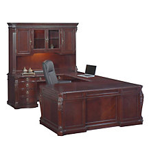 Balmoor Executive Left Bridge U-Desk with Hutch, OFG-UD0034