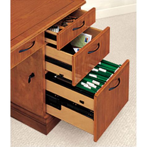 Interior view of drawers