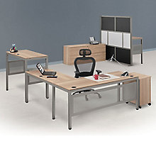 At Work Executive L-Desk Suite in Warm Ash, 8808080