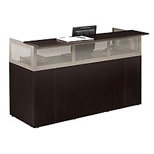 At Work Reception Desk with Pedestal, ERC-01230