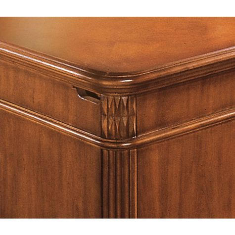 Hand Carved Corners with side panel cable access
