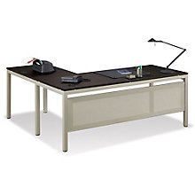 "At Work 72""W x 60""D Reversible L-Desk, 8825368"