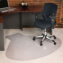 Workstation Shaped Chair Mat - 5.5'Wx5'D, INV-10658