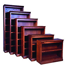 "Mission Style Three Shelf Bookcase - 36""H, FOD-6121-M"