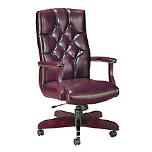 Quick Silver Traditional Tufted Leather Executive Chair, HIG-4831