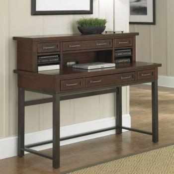 Cabin Creek Writing Desk With Hutch 54w
