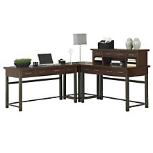 Cabin Creek L-Desk with Hutch, HOT-10808