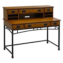 "Modern Craftsman Writing Desk with Hutch - 54"", HOT-10811"