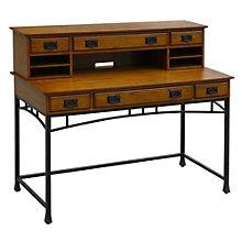 "Modern Craftsman Writing Desk with Hutch - 54"", HOT-10811"