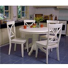 Antique White 5-Piece Dining Set, FOG-DN1092