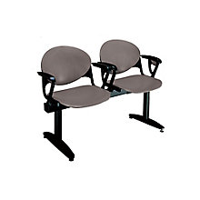 Polypropylene Two Seat Bench with Arms, OFG-RS0017
