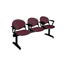 Polypropylene Three Seat Bench with Arms, 8813680