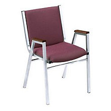 "Fabric Stack Chair with Arms - 2"" Thick Seat, KFI-421F"