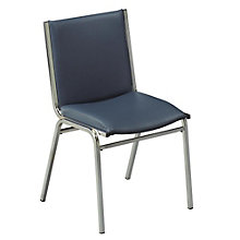 "Armless Vinyl Stack Chair - 2"" Thick Seat, KFI-420V"