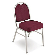 "Chrome Frame Designer Fabric Stack Chair with 2"" Seat, 8822489"
