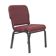 Armless Deluxe Fabric Stack Chair, 8802058