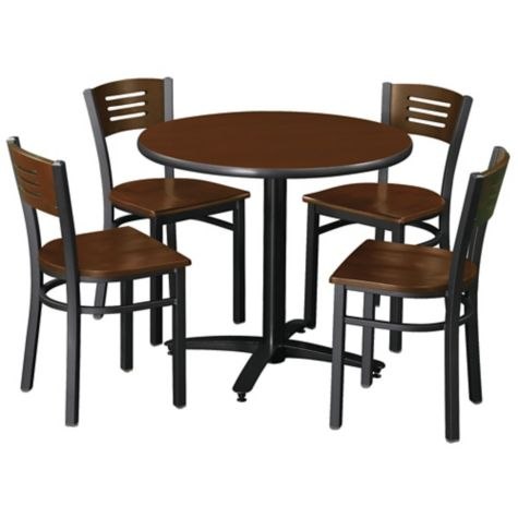 """Table shown with matching chairs (36"""" Round table"""
