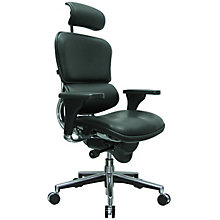 High Back Ergonomic Chair with Headrest in Leather, RMT-LE9ERG