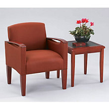 Fabric Guest Chair with End Table, OFG-GR0005