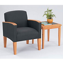 Fabric Guest Chair with End Table, OFG-GR0009