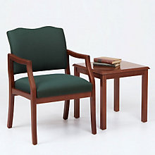 Traditional Style Guest Chair and End Table, OFG-RS0025