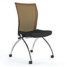 Armless Mesh Back Mobile Nesting Chair, 8813803