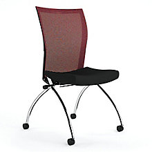 Armless Mesh Back Mobile Nesting Chair, 8813803