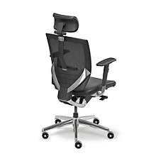 Arris High Back Mesh Ergonomic Chair with Leather Seat, MAO-207HL