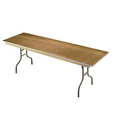 "Plywood Folding Table - 30"" x 72"", MID-630E"