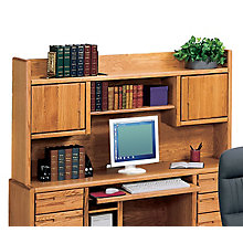 Medium Oak Bookshelf Hutch, MRT-OO682