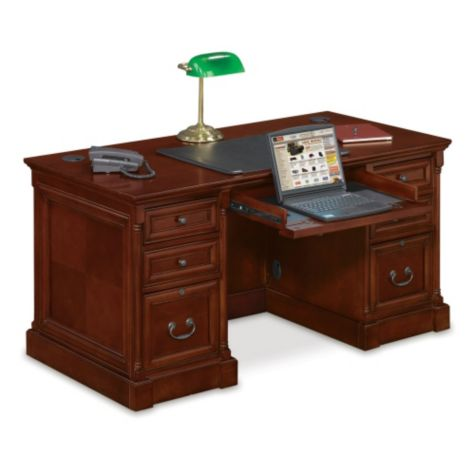 Inside view of compact desk