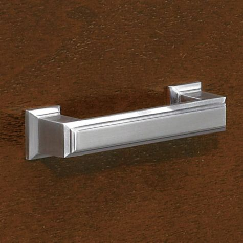 Close-up of file drawer hardware