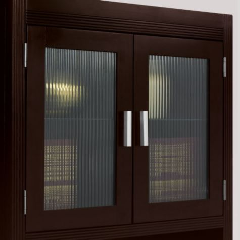 Fluted glass doors