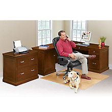 Compact Left L-Desk with Lateral File, MRN-10746