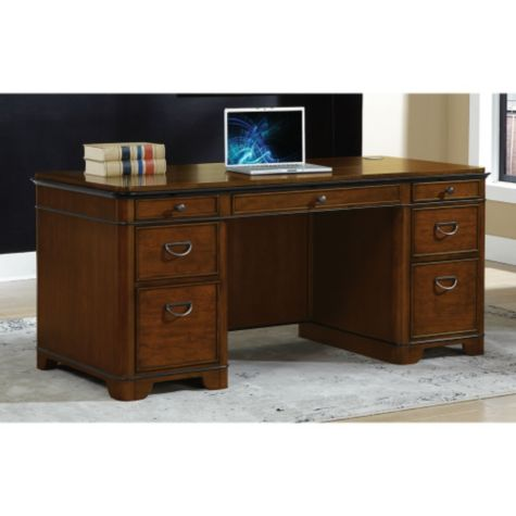 Inside view of executive desk