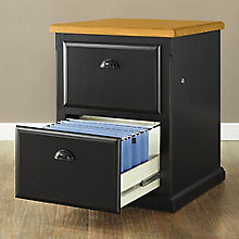 Southampton Onyx Two Drawer Vertical File, MRT-SO201