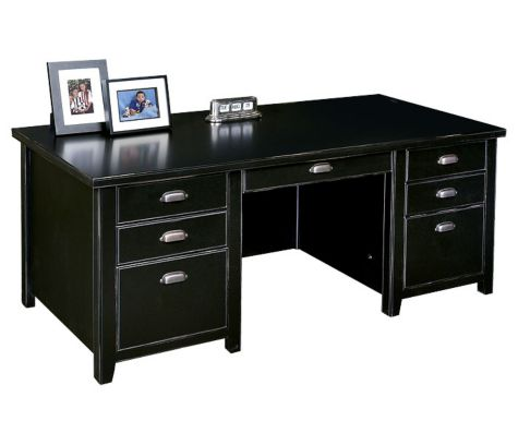 Executive desk inside view