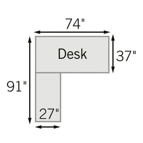 L-Desk Dimensions