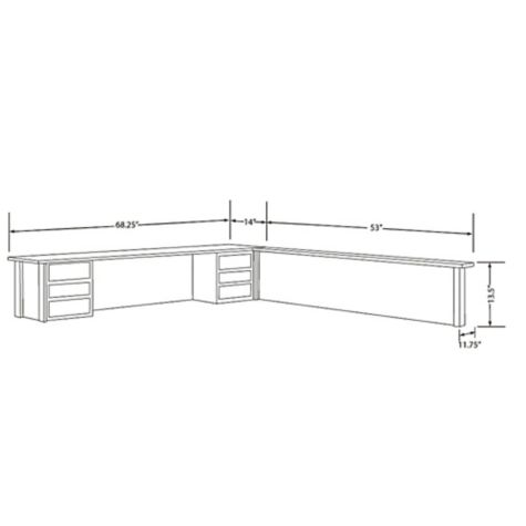 Line art of the hutch