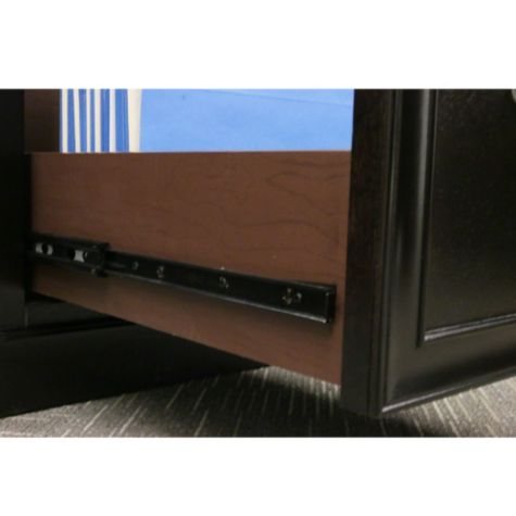 Drawer glide close-up