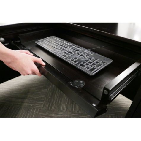 Convertible keyboard/pencil tray