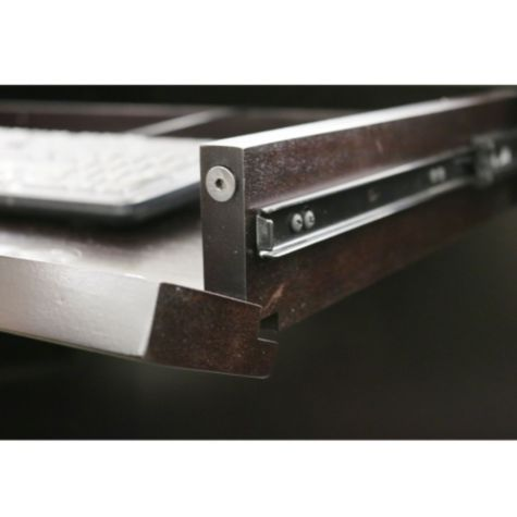 Convertible keyboard tray magnetic latch