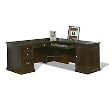 Fulton Espresso Compact L-Desk with Right Return, OFG-LD0005