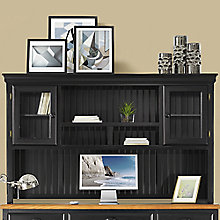 "Kathy Ireland Southampton Onyx Distressed Storage Hutch - 70""W, 8822990"