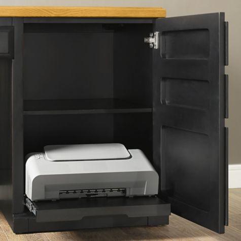 Inside of storage cabinet