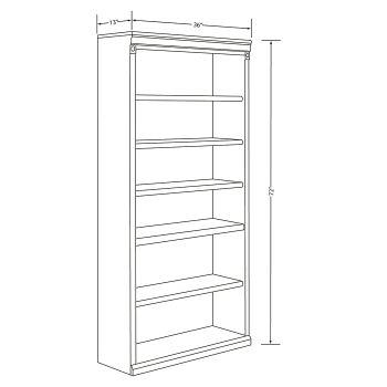Huntington Club Six Shelf Bookcase by Martin